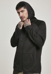 Pánska mikina URBAN CLASSICS Knit Fleece Zip Hoody black