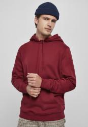 Pánska mikina URBAN CLASSICS Organic Basic Hoody burgundy
