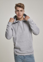 Pánska mikina URBAN CLASSICS Organic Basic Hoody grey