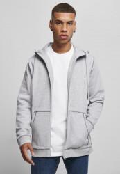 Pánska mikina URBAN CLASSICS Organic Contrast Flatlock Stitched Zip grey