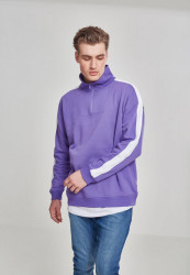 Pánska mikina Urban Classics Oversize Sweat Shoulder Stripe Troyer ultraviolet/white