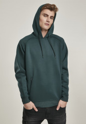 Pánska mikina URBAN CLASSICS Raglan Zip Pocket Hoody bottlegreen