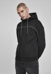 Pánska mikina Urban Classics Reflective Zip Hoody black