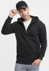 Pánska mikina URBAN CLASSICS SWEAT TROYER HOODY BLACK