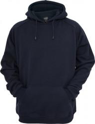 Pánska modrá mikina bez zipsu URBAN CLASSICS Blank Hoody navy