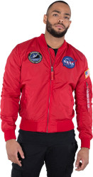 Pánska obojstranná bundaAlpha Industries MA-1 TT NASA Reversible II Jacket Speed Red