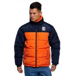 Pánska obojstranná zimná bunda Karl Kani Retro Reversible Puffer Jacket orange/navy
