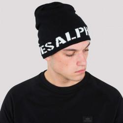 Pánska obojstranná zimná čiapka Alpha Industries Reversible Beanie II Black White - UNI #1