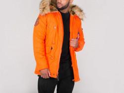 Pánska oranžová zimná bunda Alpha Industries Explorer