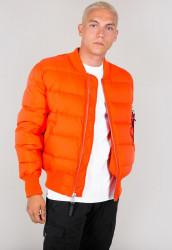 Pánska oranžová zimná bunda Alpha Industries MA-1 Puffer Farba: Oranžová,