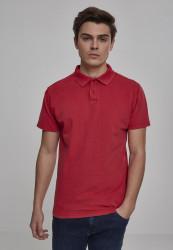 Pánska polokošeľa URBAN CLASSICS Garment Dye Pique Poloshirt red
