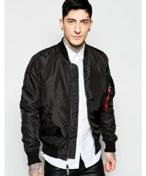 Pánska prechodná bunda Alpha Industries MA1 Bomber Jacket Slim Fit in Black