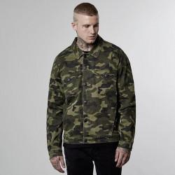 Pánska prechodná bunda Cayler & Sons jacket All Day Denim Trucker Denim Jacket washed woodland - L