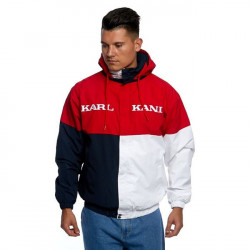 Pánska prechodná bunda Karl Kani Retro Block Windbreaker red/black/white