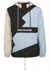 Pánska prechodná bunda Pink Dolphin Wave Crew Anaorak Farba: wht/lightblue/blk, #8