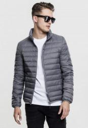 Pánska prechodná bunda URBAN CLASSICS Basic Down Jacket šedá