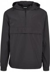 Pánska bunda URBAN CLASSICS Basic Pull Over Jacket black #3
