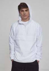 Pánska prechodná bunda URBAN CLASSICS Basic Pull Over Jacket white