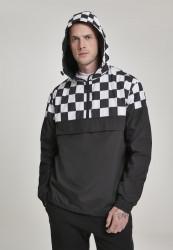 Pánska prechodná bunda Urban Classics Check Pull Over Jacket blk/chess