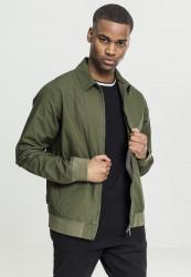 Pánska prechodná bunda URBAN CLASSICS Cotton Worker Jacket darkolive