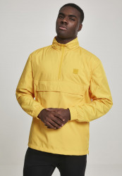 Pánska bunda Urban Classics Hidden Hood Pull Over Jacket chrome yellow