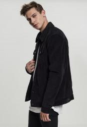 Pánska prechodná bunda Urban Classics Sherpa Corduroy Jacket black/black #1