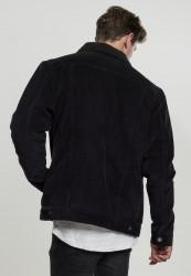 Pánska prechodná bunda Urban Classics Sherpa Corduroy Jacket black/black #2
