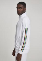 Pánska prechodná bunda Urban Classics Sleeve Taped Track Jacket wht/multicolor #1