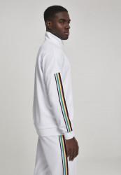 Pánska prechodná bunda Urban Classics Sleeve Taped Track Jacket wht/multicolor #3