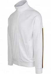 Pánska prechodná bunda Urban Classics Sleeve Taped Track Jacket wht/multicolor #4