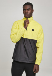 Pánska prechodná bunda Urban Classics Stand Up Collar Pull Over Jacket brightyellow/blk