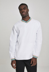 Pánska prechodná bunda Urban Classics Warm Up Pull Over wht/multicolor