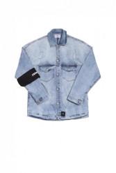 Pánska rifľová bunda Sixth June Jean Armband Farba: Modrá, #4