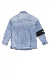 Pánska rifľová bunda Sixth June Jean Armband Farba: Modrá, #5