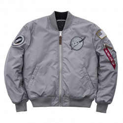 Pánska šedá bombera Alpha Industries MA-1VF Nasa Reversible Grey