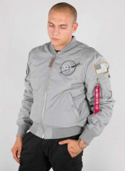 Pánska šedá bombera Alpha Industries MA-1VF Nasa Reversible