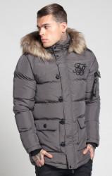 Pánska šedá zimná bunda Sik Silk Puff