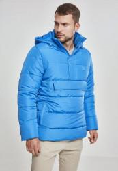 Pánska svetlomodrá bunda Urban Classics Pull Over Puffer Jacket brightblue