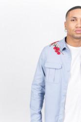 Pánska svetlomodrá košeľa Sixth June Roses Farba: Modrá, #1