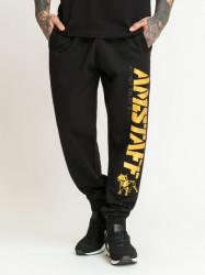Pánska tepláky Amstaff Logo 2.0 Sweatpants black yellow Size: 3XL