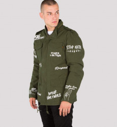 Pánska zelená bunda Alpha Industries M-65 Freedom