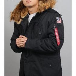 Pánska zimná bunda Alpha Industries Polar Jacket čierna
