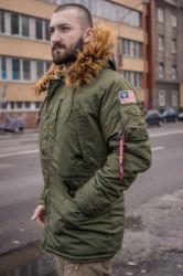 Pánska zimná bunda Alpha Industries Polar Jacket SV dark green