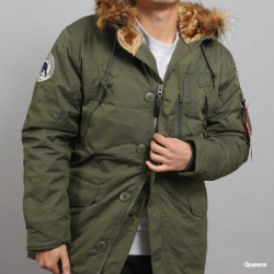 Pánska zimná bunda Alpha Industries Polar Jacket zelená