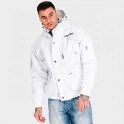 Pánska zimná bunda Amstaff Conex Winterjacket biela