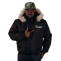 Pánska zimná bunda COCAINE LIFE FLAG WINTER JACKET BLACK