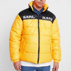 Pánska zimná bunda Karl Kani Block PU Puffer Jacket Yellow