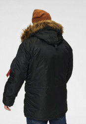 Pánska zimná bunda parka Alpha Industries N3B VF 59 Parka Jacket Black #2