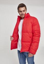 Pánska zimná bunda Urban Classics Boxy Puffer Jacket fire red