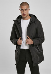 Pánska zimná bunda Urban Classics Hooded Long Jacket black